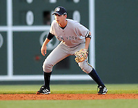May 22, 2008: Infielder Carmen Angelini (5) of the Charleston RiverDogs, Class A affiliate of the New York Yankees, in a game against the Greenville Drive at Fluor Field at the West End in Greenville, S.C. Photo by:  Tom Priddy/Four Seam Images