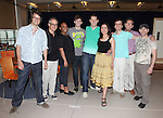 "Fred Lassen (Music Supervisor), Peter Melnick (Music), Natalie Venetia Belcon, Jake Boyd, John Bolton, Farah Alvin, Andy Sandberg (Director), Bill Russell (Book/Lyrics) & AC Cuilla (Choreographer) attending the Meet & Greet for 'The Last Smoker In America'"" at the New 42nd Street Studios in New York City on June 21, 2012"