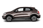 Car Driver side profile view of a 2017 Fiat 500X Trekking 5 Door SUV Side View