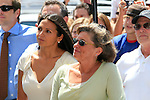 Luciana, the wife of actor Matt Damon watches with his mother as he is honored with the 2,343rd star on the 'Hollywood Walk of Fame' on Hollywood Boulevard in Los Angeles, California on 25 July 2007. Photo by Nina Prommer/Milestone Photo