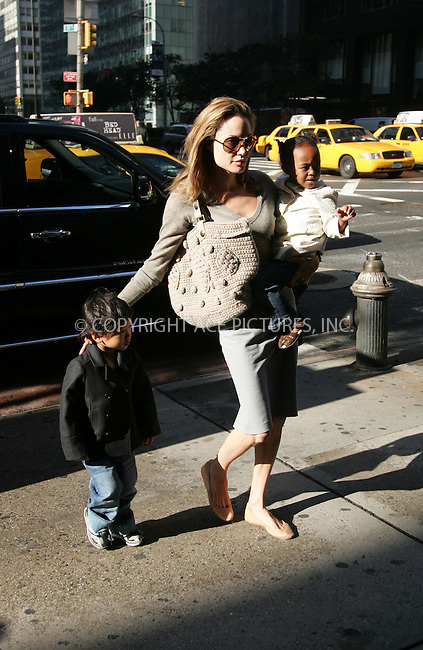WWW.ACEPIXS.COM . . . . . ....September 20 2007, New York City....Actress Angelina Jolie dropped off Maddox at school then nipped into Borders bookshop with Zahara and Pax before returning to her midtown hotel.....Please byline: DAVID MURPHY - ACEPIXS.COM.. . . . . . ..Ace Pictures, Inc:  ..(646) 769 0430..e-mail: info@acepixs.com..web: http://www.acepixs.com