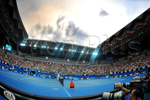 17.01.2014. Melbourne, Australia. Austra;ian Open Tennis Championships. Edouard Roger Vasselin (FRA) Kevin Anderson (RSA)