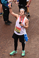 Cel Spellman<br /> at the finish of the London Marathon 2019, Greenwich, London<br /> <br /> ©Ash Knotek  D3496  28/04/2019