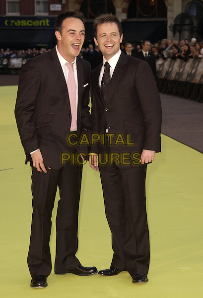 "ANT & DEC.ANTHONY McPARTLIN & DECLAN DONNELLY.Arrivals at the World Premiere of ""Alien Autopsy"", Odeon Leicester Square, London, England, April 3rd 2006..full length suits funny.Ref: CAN.www.capitalpictures.com.sales@capitalpictures.com.©Can Nguyen/Capital Pictures"