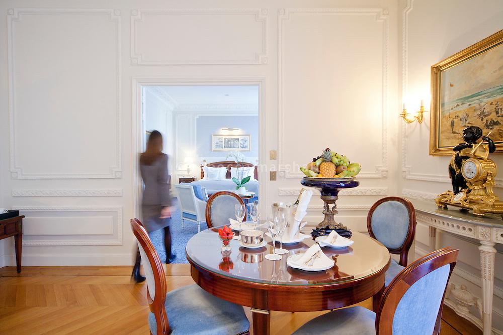 Bedroom suite at the Hotel de Paris, Monte Carlo, Monaco, 21 March 2013