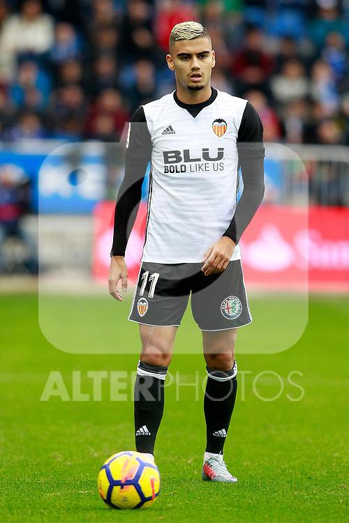 Valencia CF's Andreas Pereira during La Liga match. October 28,2017. (ALTERPHOTOS/Acero)