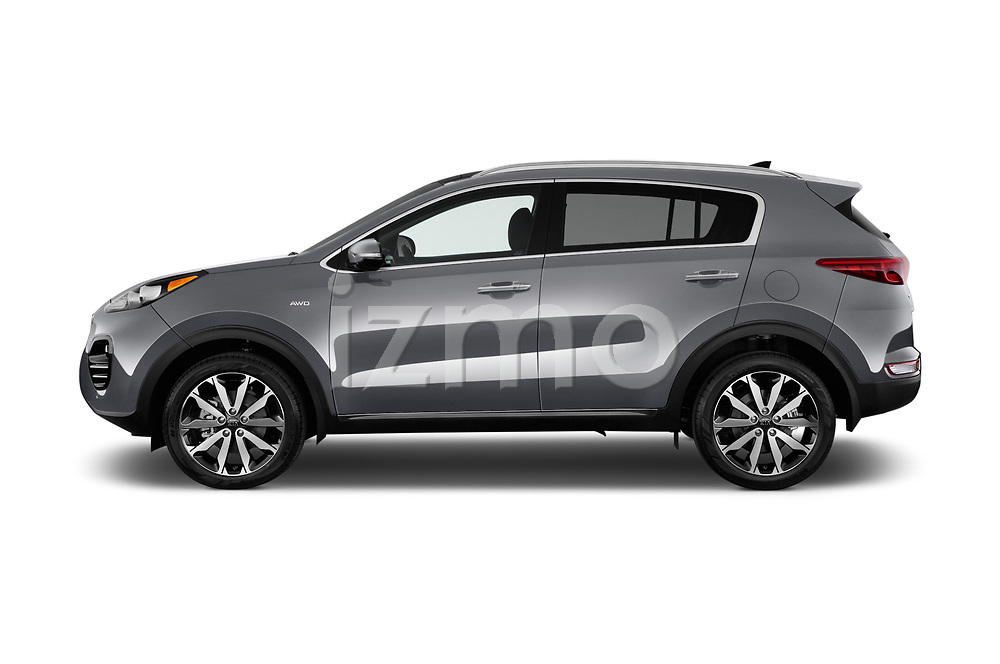 Car driver side profile view of a 2019 KIA Sportage EX 5 Door SUV