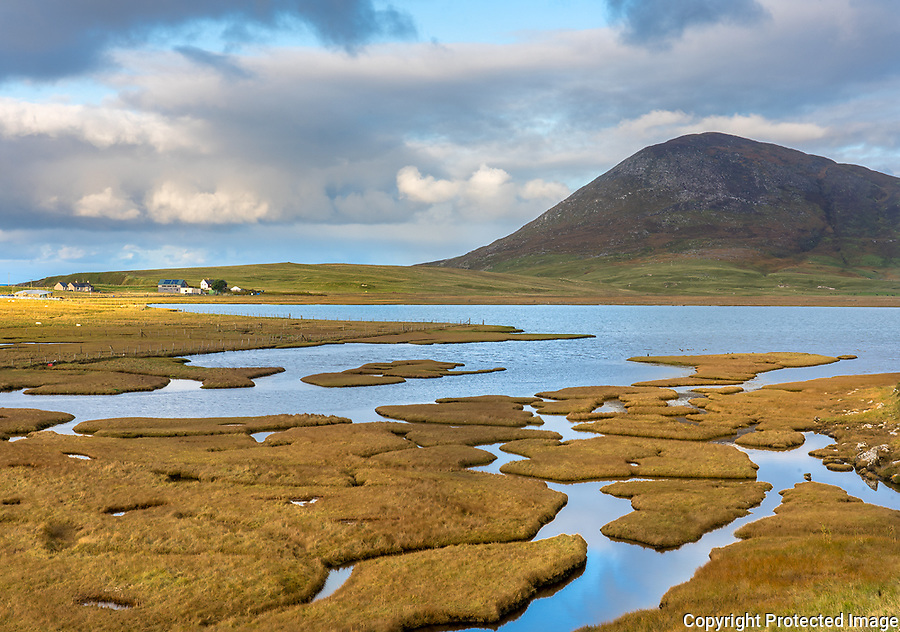 Isle of Lewis and Harris, Scotland: Tidal salt ponds near Northton,South Harris Island