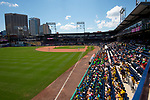 HARTFORD,  CT-071818JS10--A large crowd of area summer camp participants, filled the stands during the Yard Goat's game against Reading on Wednesday afternoon at Dunkin Donuts Park in Hartford.<br /> Jim Shannon Republican American