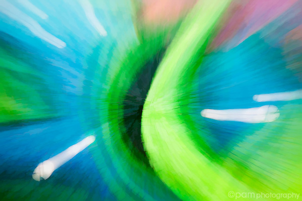 Colorful blue and green abstract