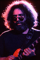 Jerry Garcia playing with Deep Concentration. The Grateful Dead in Concert at the Huntington Civic Center, Huntington West Virginia on 16 April 1978. Image No. 78C16-07
