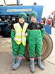 Leo and James Walsh pictured at the tractor run in Dunleer in aid of SOSAD. Photo:Colin Bell/pressphotos.ie
