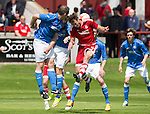 Aberdeen v St Johnstone...28.06.15  Glebe Park, Brechin..Pre-Season Friendly<br /> Andy Considine and Frazer Wright<br /> Picture by Graeme Hart.<br /> Copyright Perthshire Picture Agency<br /> Tel: 01738 623350  Mobile: 07990 594431
