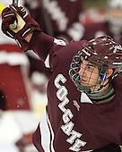 Spiro Goulakos (Colgate - 6) - The Harvard University Crimson defeated the visiting Colgate University Raiders 4-2 on Saturday, November 12, 2011, at Bright Hockey Center in Cambridge, Massachusetts.
