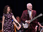 Edie Brickell and Steve Martin  on stage during 'Bright Star' In Concert at Town Hall on December 12, 2016 in New York City.