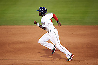 Fort Myers Miracle shortstop Nick Gordon (2) running the bases during a game against the Brevard County Manatees on April 13, 2016 at Hammond Stadium in Fort Myers, Florida.  Fort Myers defeated Brevard County 3-0.  (Mike Janes/Four Seam Images)