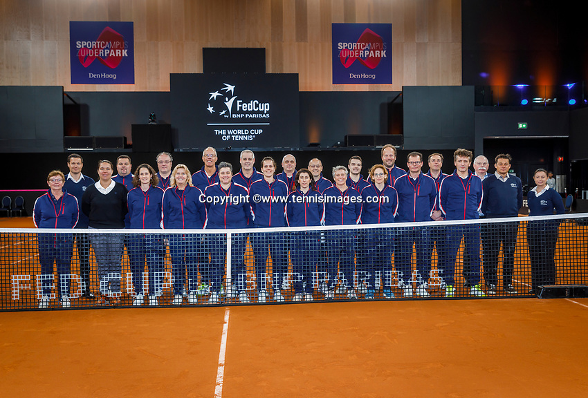 The Hague, The Netherlands, Februari 8, 2020,    Sportcampus, FedCup  Netherlands -  Balarus, Linespersons and umpires<br /> Photo: Tennisimages/Henk Koster