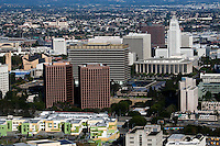 aerial photograph Civic Center district and City Hall, Los Angeles, California