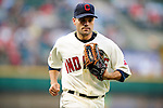 5 September 2009: Cleveland Indians' utilityman Jamey Carroll in action against the Minnesota Twins at Progressive Field in Cleveland, Ohio. The Indians fell to the Twins 4-1 in the second game of their three-game weekend series. Mandatory Credit: Ed Wolfstein Photo
