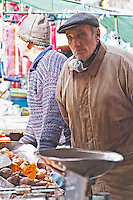 A market stall street market merchant selling fruits and vegetables Montevideo, Uruguay, South America