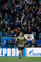 AC Milan's Kaka celebrates goal during Champions League 2013/2014 match.March 11,2014. (ALTERPHOTOS/Acero)