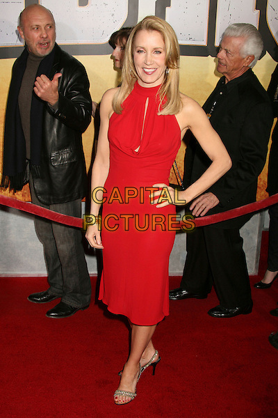 "FELICITY HUFFMAN.""Wild Hogs"" Los Angeles Premiere at the El Capitan Theatre, Hollywood, California, USA..February 27th, 2007.full length red dress hand on hip .CAP/ADM/BP.©Byron Purvis/AdMedia/Capital Pictures"