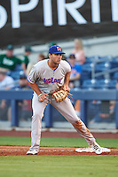 Midland RockHounds first baseman Matt Olson (21) during a game against the Tulsa Drillers on June 2, 2015 at Oneok Field in Tulsa, Oklahoma.  Midland defeated Tulsa 6-5.  (Mike Janes/Four Seam Images)