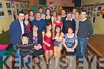 Annemarie and Lisa Marie Murphy, Glencar, pictured with Daragh Fitzgerald, Bridget Murphy, Noreen Murphy, Michael, Catherine and Patsy Murphy, Juliette Fitzgerald, Billy Russell, Linda Murphy, Caroline Cummins, Adrian, Mattie, Kieran, Adriana nd Declan Murphy, as they celebrated their joint 21st's in Sheahan's Bar, Killorglin on Saturday night.