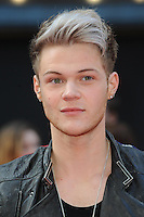 NON EXCLUSIVE PICTURE: PAUL TREADWAY / MATRIXPICTURES.CO.UK.PLEASE CREDIT ALL USES..WORLD RIGHTS..Ryan Fletcher of British pop group Lawson attending the European premiere of The Hangover Part 3, at the Empire Cinema in Leicester Square, London...MAY 22nd 2013..REF: PTY 133458