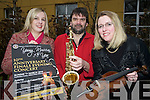 Pictured at the launch of the Killarney Rotary Club's Young Musician of the Year, in the Killarney Park on Wednesday were Eve Kelliher, Sean Tracey and Ciara Irwin Foley.
