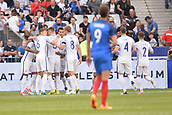 June 13th 2017, Stade de France, Paris, France; International football friendly, France versus England; England celebrate their goal from Harry Kane in the 9th minute for 0-1