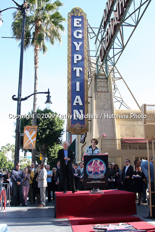James Cameron & Sigourney Weaver. at the Hollywood Walk of Fame Ceremony for James Cameron.Egyptian Theater Sidewalk.Los Angeles,  CA.December 18, 2009.©2009 Kathy Hutchins / Hutchins Photo.