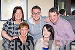 April O'Leary, Killarney who is emigrating to Australia next Monday was given a bon voyage from her mum Una brother Brian, uncle and aunt Declan and Edel Lynch in Lord Kenmare's restaurant on Saturday night