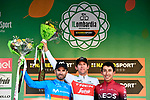 Bauke Mollema (NED) Trek-Segafredo wins with Alejandro Valverde (ESP) Movistar Team 2nd and Egan Bernal (COL) Team Ineos 3rd at the end of the 113th edition of Il Lombardia 2019 running 243km from Bergamo to Como, Italy. 12th Octobre 2019. <br /> Picture: Fabio Ferrari/LaPresse | Cyclefile<br /> <br /> All photos usage must carry mandatory copyright credit (© Cyclefile | LaPresse/Fabio Ferrari)