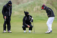 Alessia Nobilio (ITA), Sophie Lamb (ENG), Jessica Ross (Clandeboye) during the first round of the Irish Womans Open Strokeplay Championship, Co Louth Golf Club, Baltray, Drogheda, Co Louth, Ireland. 11/05/2018.<br /> Picture: Golffile | Fran Caffrey<br /> <br /> <br /> All photo usage must carry mandatory copyright credit (&copy; Golffile | Fran Caffrey)