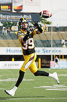 Sep 6, 2008; Hamilton, ON, CAN; Hamilton Tiger-Cats defensive back Sean Manning (39). CFL football - BC Lions defeated the Hamilton Tiger-Cats 35-12 at Ivor Wynne Stadium. Mandatory Credit: Ron Scheffler-www.ronscheffler.com. Copyright (c) Ron Scheffler