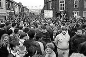 Residents of Treharris, South Wales, parade through the pit village to mark the closure of Deep Navigation colliery.