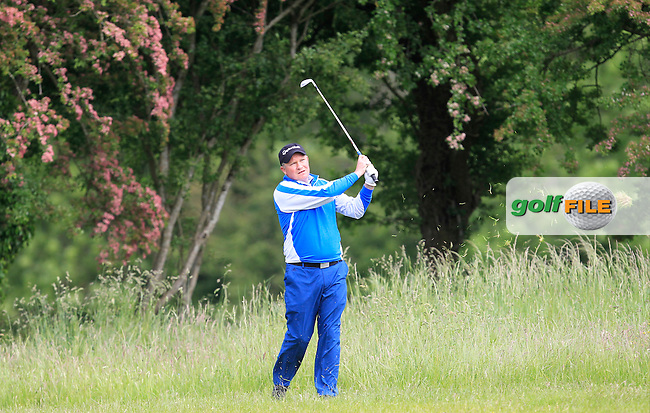 Michael Barrett (Slievenamon) on the 18th fairway during Round 3 of the Irish Mid-Amateur Open Championship at New Forest on Sunday 21st June 2015.<br /> Picture:  Thos Caffrey / www.golffile.ie