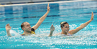 SABADA Oleksandra; TIMOFEYEV Anton UKR Ukraine<br /> Kazan Arena Synchro Sincro Mixed Duet Technical Final<br /> Day03 26/07/2015<br /> XVI FINA World Championships Aquatics Swimming<br /> Kazan Tatarstan RUS July 24 - Aug. 9 2015 <br /> Photo G.Scala/Deepbluemedia/Insidefoto