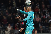 Bas Dost (Eintracht Frankfurt) gegen John Anthony Brooks (VfL Wolfsburg) - 23.11.2019: Eintracht Frankfurt vs. VfL Wolfsburg, Commerzbank Arena, 12. Spieltag<br /> DISCLAIMER: DFL regulations prohibit any use of photographs as image sequences and/or quasi-video.