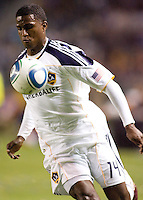 LA Galaxy forward Edson Buddle (14) moving with the ball. The LA Galaxy and Toronto FC played to a 0-0 draw at Home Depot Center stadium in Carson, California on Saturday May 15, 2010.  .