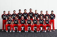 PICTURE BY VAUGHN RIDLEY/SWPIX.COM - Cricket - County Championship - Lancashire County Cricket Club 2012 Media Day - Old Trafford, Manchester, England - 03/04/12 - The Lancashire CCC players gather in The Point for the 2012 photo call wearing their One Day kit.