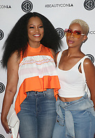 LOS ANGELES, CA - AUGUST 11: Garcelle Beauvais, Kim Nicole, at Beautycon Festival Los Angeles 2019 - Day 2 at Los Angeles Convention Center in Los Angeles, California on August 11, 2019. <br /> CAP/MPIFS<br /> ©MPIFS/Capital Pictures