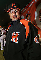 Elmer Desens coach de Naranjeros, durante el tercer juego de la Serie entre Tomateros de Culiacán vs Naranjeros de Hermosillo en el Estadio Sonora. Segunda vuelta de la Liga Mexicana del Pacifico (LMP) **26Dici2015.<br /> **CreditoFoto:LuisGutierrez<br /> **<br /> Shares during the third game of the series between Culiacan Tomateros vs Orange sellers of Hermosillo in Sonora Stadium. Second round of the Mexican Pacific League (PML)