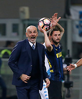 Stefano Pioli  during the  italian serie a soccer match,between Inter FC  and SSC Napoli      at  the San Siro   stadium in Milan  Italy , April  30, 2017
