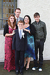Sean Flaherty with his family at Bellewstown NS Communion...(Photo credit should read Jenny Matthews www.newsfile.ie)....This Picture has been sent you under the conditions enclosed by:.Newsfile Ltd..The Studio,.Millmount Abbey,.Drogheda,.Co Meath..Ireland..Tel: +353(0)41-9871240.Fax: +353(0)41-9871260.GSM: +353(0)86-2500958.email: pictures@newsfile.ie.www.newsfile.ie.