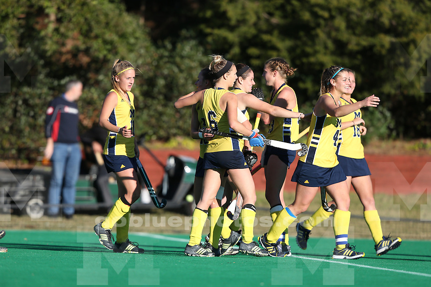 The University of Michigan field hockey team beats Wake Forest, 2-1, in the first round of the NCAA tournament at University of North Carolina at Chapel Hill on Nov. 14, 2015.