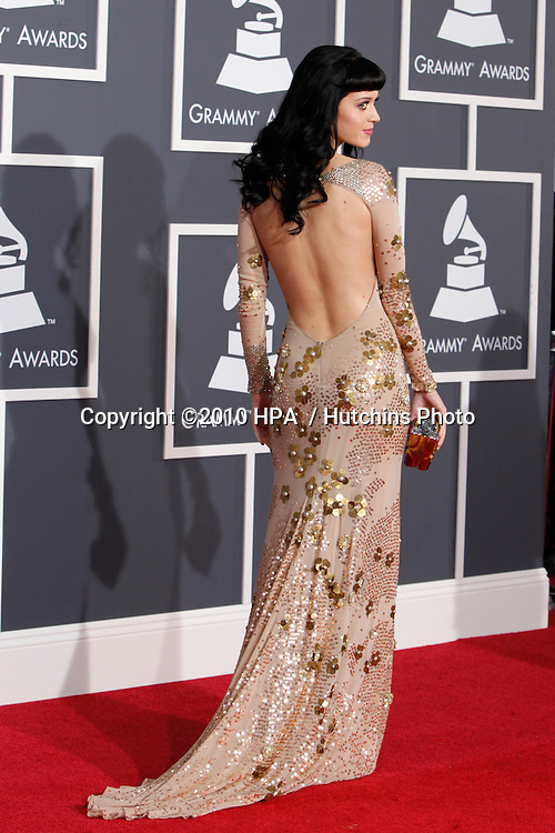 Katy Perry.arriving at the 2010 Grammy's.Staples Center.Los Angeles, CA.January 31, 2010.©2010 HPA / Hutchins Photo....