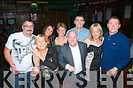Ringing in the new year in the Castle bar,Tralee last Tuesday night were L-R Michael Connolly,Caroline Hutchenson,Claire Pigott,Shelia O'Sullivan,Joe Hanley,Declan O'Carroll,Mary Taylor and Tony Cassidy.