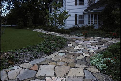 Stone path to white house